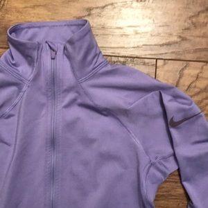 Lavender nike long sleeve workout top